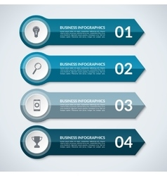 Infographic arrows template with 4 options vector
