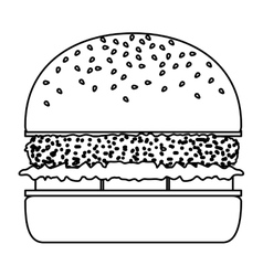 Isolated and shilhouette hamburger design vector
