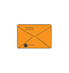 isolated envelope icon vector image