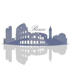 Isolated Rome Skyline vector image