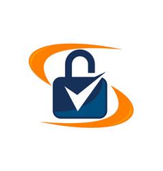 lock security service vector image