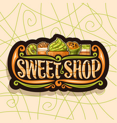 logo for sweet shop vector image