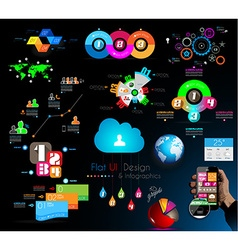 mega collection quality infographics objects vector image