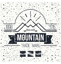 Mountain retro emblem vector image
