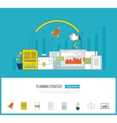 Planning strategy and project management concept vector image