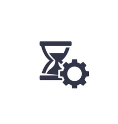 Productivity time management icon on white vector