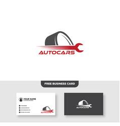 Repair car logo tire and wrench symbol vector