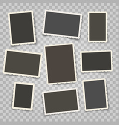 Retro photo frames templates vector