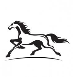 running stallion vector image