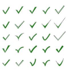 set check mark icons vector image