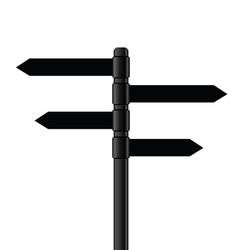 signboard metal black vector image