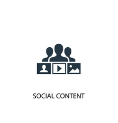 Social content icon simple element vector