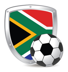 south africa shield scoccer vector image