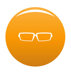 Sport eyeglasses icon orange vector
