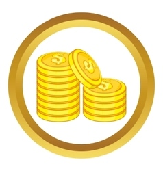 Stack of gold coins icon vector