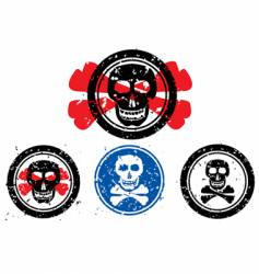 stamp with image of skull vector image