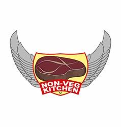Steak Logo for cafe or restaurant serving meat vector image