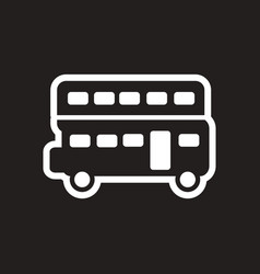 Stylish black and white icon london double-decker vector