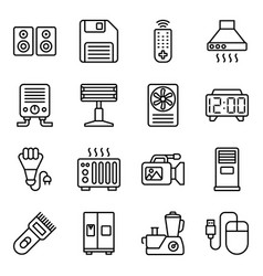 Technological devices line pack vector