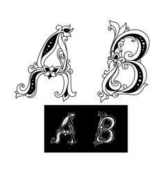Title letters A and B vector