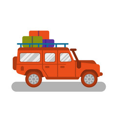 travel truck car vector image