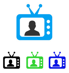 Tv speaker flat icon vector