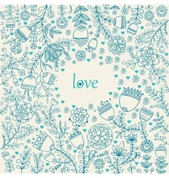 Valentine texture with flowers vector image