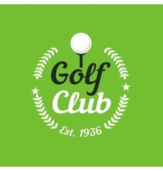 Vintage color golf championship badge vector image