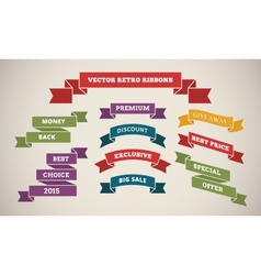 Vintage Ribbons for Marketing and Sales vector