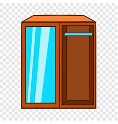 wardrobe icon cartoon style vector image
