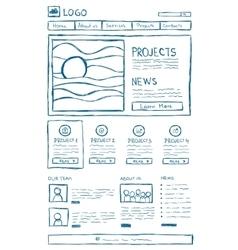 Website Layout Doodle vector