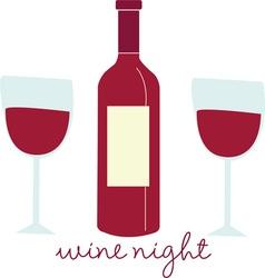 Wine Night vector