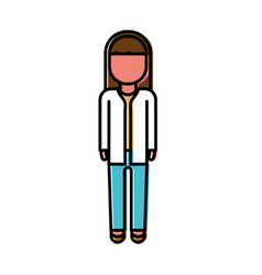 Woman medical doctor icon vector