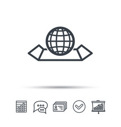 World map icon globe sign vector