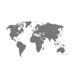 world map on white isolated background flat blank vector image