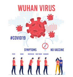 Wuhan virus transmission protection infographic vector