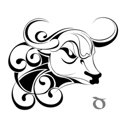 Zodiac taurus vector