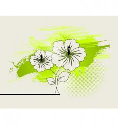 abstract ikebana vector image vector image