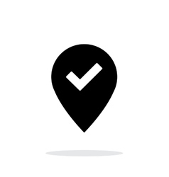 Accept map pin icon on white background vector image