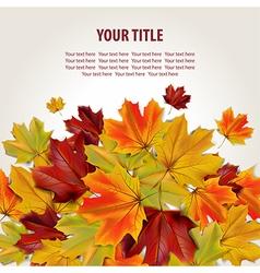 Beautiful autumn background vector image