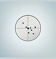 bullets target with holes color vector image vector image