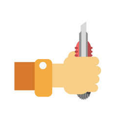 han with builder knife vector image vector image