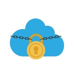 Pcloud adlock security system icon graphic vector