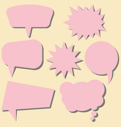 set of pink speech bubbles without phrases vector image