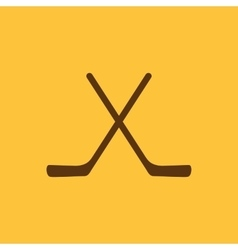 The hockey icon Game symbol Flat vector image