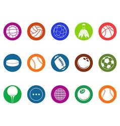 ball button icons set vector image