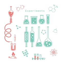 chemical experiments vector image vector image