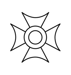 christian cross emblem icon vector image