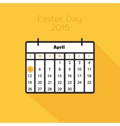 Flat holiday calendar icon vector image