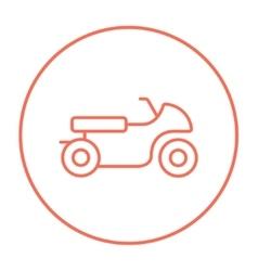 Motorcycle line icon vector image vector image